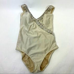 Gottex Tank Swimsuit Champagne Size 14